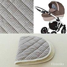 Textil - Podložka do vaničky ADAMEX BARLETTA 100% merino ELEGANT Bodka šedo béžová - 10160187_