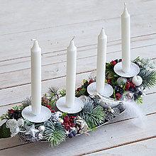 Dekorácie - Vianočný svietnik - 10157122_