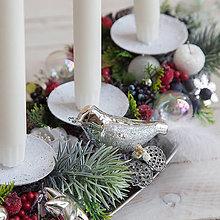 Dekorácie - Vianočný svietnik - 10157123_