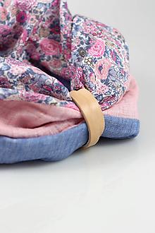 Šály - Elegantný dámsky kvetinový ľanový nákrčník