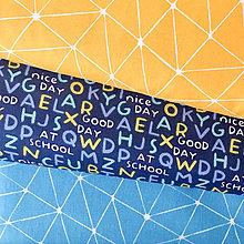 Textil - abeceda, 100 % bavlna Francúzsko, šírka 150 cm - 10158563_