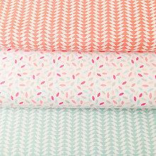 Textil - svetloružová ryža, 100 % bavlna Francúzsko, šírka 150 cm - 10158880_