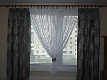 Úžitkový textil - Záclona sivá - už posledná - 10157768_