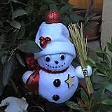 Dekorácie - Snehuliačik s roľničkami - 10157225_