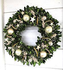 Dekorácie - vianočný venček buxus - 10157414_
