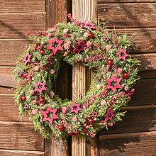 Dekorácie - Vianočný veniec zo živej čečiny - 10160733_