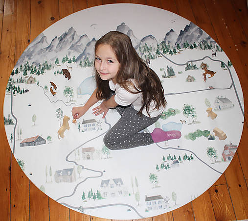 Úžitkový textil - koberec na hranie -krajina - 10159511_