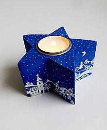 Svietidlá a sviečky - Svietnik - Zimná dedinka - 10158446_