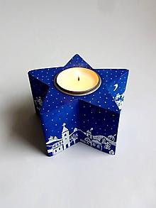 Svietidlá a sviečky - Svietnik - Zimná dedinka - 10158451_