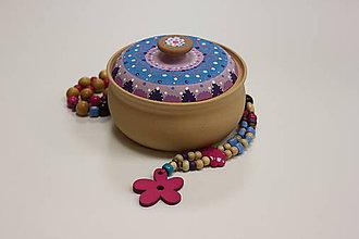 Krabičky - Kameninová dóza na prstienky ručne maľovaná - 10157810_