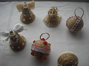 Iné doplnky - vianočné ozdoby - 10159636_