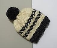 Detské čiapky - Čiapka pletená detská - 10160204_