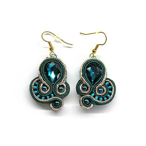 cd0f67606 JENNY - smaragdovo zelené náušnice / dominicka_jewelry - SAShE.sk ...