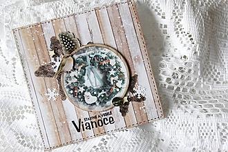 Papiernictvo - Vianočná pohľadnica - 10157614_