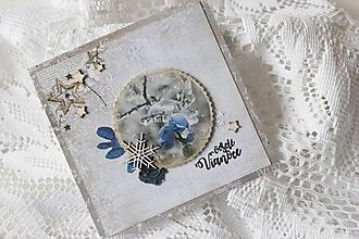 Papiernictvo - Vianočná pohľadnica - 10157624_