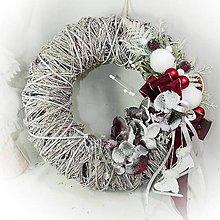 Dekorácie - Vánoční věneček - Vínové orchidejky - 10160104_