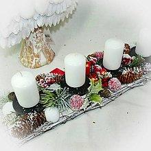 Dekorácie - Adventní dekorace - větvičky a jablíčka - 10160116_