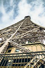 Fotografie - Eiffelovka - zlatá - 10158044_