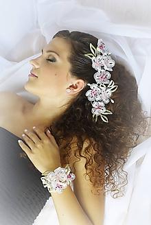 Náramky - Třešňové květy náramek - 10159470_