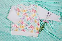 Detské oblečenie - Mikina s motýlikami v. 80 - 10157408_