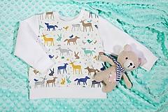 Detské oblečenie - Lesné zvieratká mikina v.80 - 10158417_