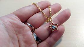 Náhrdelníky - Vianočná hviezda na krku - 10158609_