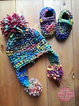 Detské čiapky - Duhovy set - 10157629_