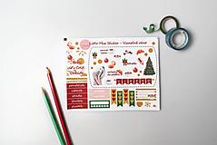 Drobnosti - Vianočné ráno (set nálepiek) - 10159017_