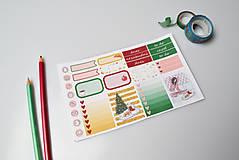 Drobnosti - Vianočné ráno (set nálepiek) - 10159039_