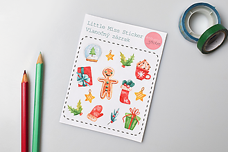 Drobnosti - Vianočný zázrak (nálepky) - 10158121_