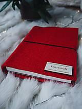 """Papiernictvo - A6 zápisník z filcu """"červený šik"""" - 10157635_"""