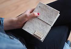 """Papiernictvo - A6 zápisník """"béžový melír"""" - 10157686_"""