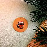 Dekorácie - Zvieracie vianočné ozdoby (vianočná guľa - mýval) - 10158629_