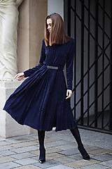 Šaty - Šaty plisované Modré - 10162504_