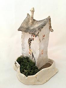 Svietidlá a sviečky - Domček keramický svietnik - 10161840_