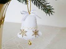Dekorácie - Zvonček - biely - 10162901_
