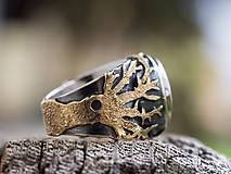 Prstene - Stromy strážcovia ... s ametystom v zlate - 10161307_