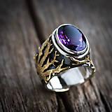 Prstene - Stromy strážcovia ... s ametystom v zlate - 10161308_