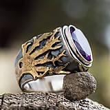 Prstene - Stromy strážcovia ... s ametystom v zlate - 10161309_