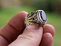 Prstene - Stromy strážcovia ... s ametystom v zlate - 10161311_