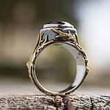 Prstene - Stromy strážcovia ... s ametystom v zlate - 10161313_