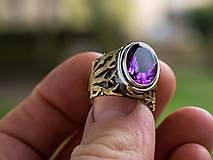 Prstene - Stromy strážcovia ... s ametystom v zlate - 10161317_