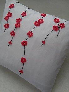 Úžitkový textil - Višňový sad (dekoračný vankúš) - 10161351_