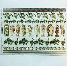 Papier - Ryžový papier na decoupage -A4-R1276- Vianoce, anjeli - 10160848_