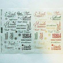 Papier - Ryžový papier na decoupage -A4-R1289-Veselé vianoce, text - 10163088_
