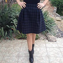 Sukne - Vlnená sukňa modro/čierna - 10161680_