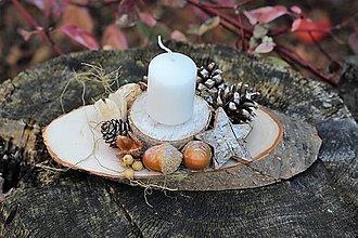 Dekorácie - Vianočný svietnik - 10161288_