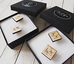 Šperky - Manžetové gombíky drevené - 10163852_