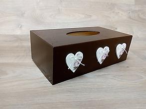 Krabičky - HM - Krabička na papierové vreckovky - podstava obdĺžnik - 10163157_