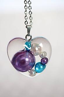 Náhrdelníky - Náhrdelník Srdce s perlami (2539 A CHO) - 10164004_